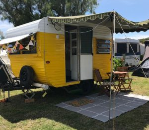 Little Yorkie Retro Caravan